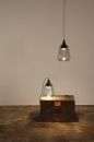 Reinhard Dienes-Friday // Suspension - Table lamp // Tinted glass and aluminum -1