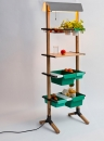 Reinhard Dienes-Sunday // Kitchen Grocery // Wood and bended steel  180 x 55 x 35 cm -2