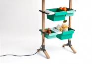 Reinhard Dienes-Sunday // Kitchen Grocery // Wood and bended steel  180 x 55 x 35 cm -4