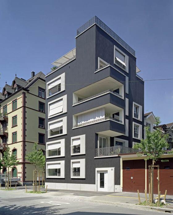 Urban Residential Building By Huggenbergerfries