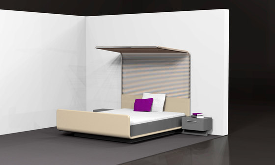 modern four poster bed by speziell. Black Bedroom Furniture Sets. Home Design Ideas