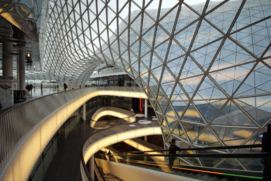 "Fuksas-Myzeil – shopping mall, part of the ""PalaisQuartier"""