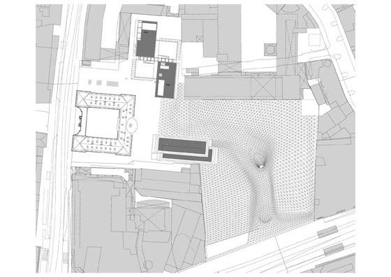 "Fuksas-Myzeil – shopping mall, part of the ""PalaisQuartier"""