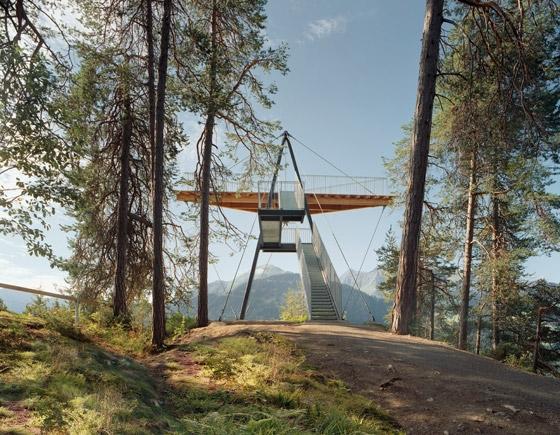 Aussichtsplattform Conn von Corinna Menn | Denkmäler/Skulpturen/Aussichtsplattformen