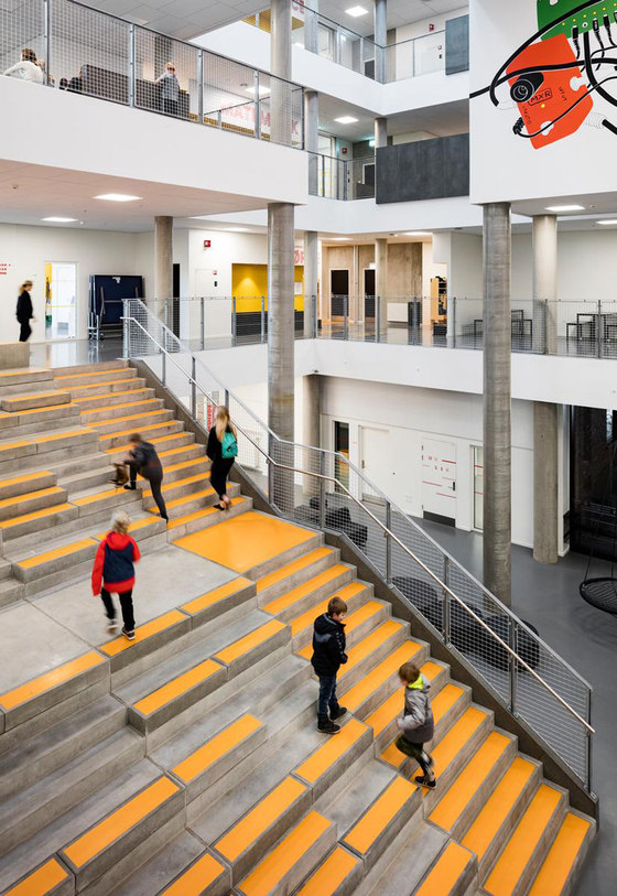 Frederiksbjerg School By Henning Larsen Architects Schools