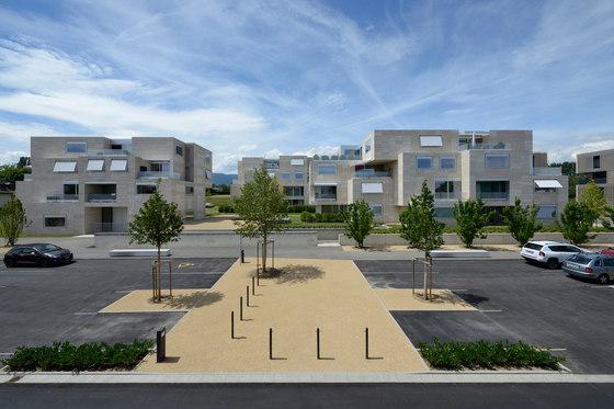 "Housing and Urban Planning of ""Grand-Pré"" Neighbourhood by Luscher Architectes SA | Apartment blocks"