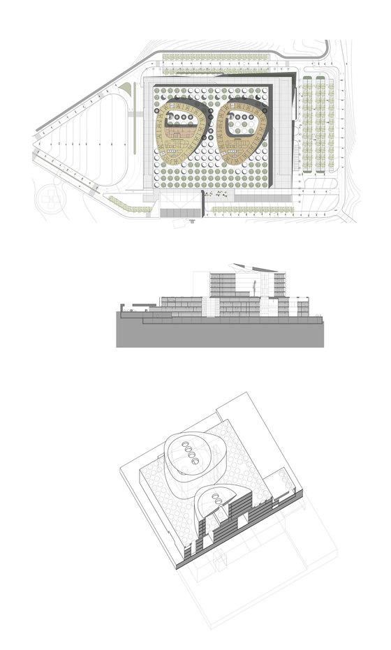 Rey Juan Carlos, the new hospital of Móstoles de RAFAEL DE LA-HOZ Arquitectos | Hôpitaux