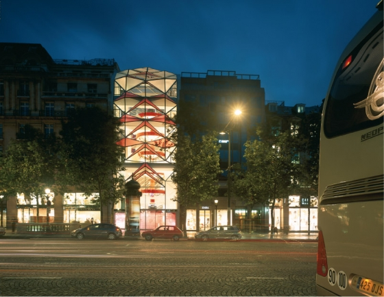 Manuelle Gautrand Architecture-Citroën Flagship Showroom on the Champs-Elysées Avenue in Paris