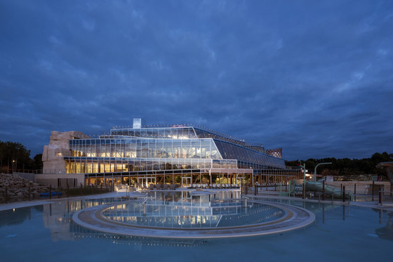 Water Park Aqualagon by Jacques Ferrier Architecture | Indoor swimming pools