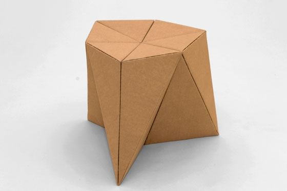 Foldschool cardboard furniture for kids by nicola enrico for How to make a dresser out of cardboard