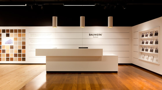 Studio Hannes Wettstein-Bauwerk Parkett, showrooms and trade fair stand