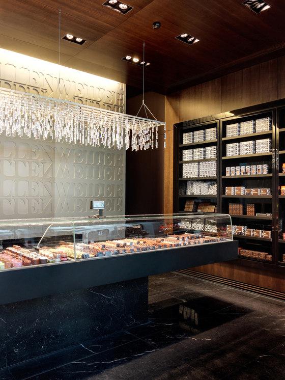 Vollenweider Chocolatier Confiseur, Ladenlokal von Studio Hannes Wettstein | Shop-Interieurs