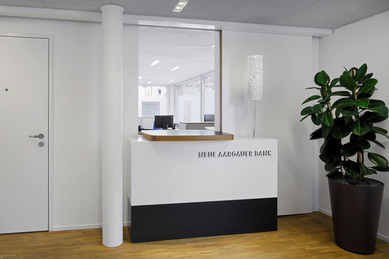 Bureau Hindermann GmbH-Operational and design concept  for 35 branches of the Neue Aargauer Bank (NAB)