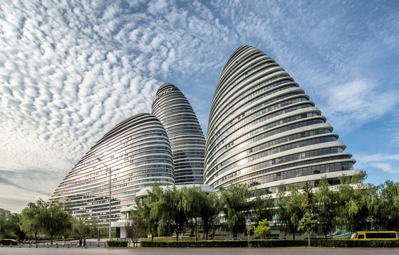 Wangjing soho by zaha hadid architects office buildings for Office design zaha hadid