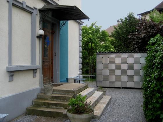 Neubau eines Fahrradhauses de eob.ch,  Art Design Architektur,  Eduard Otto Baumann | Instalaciones