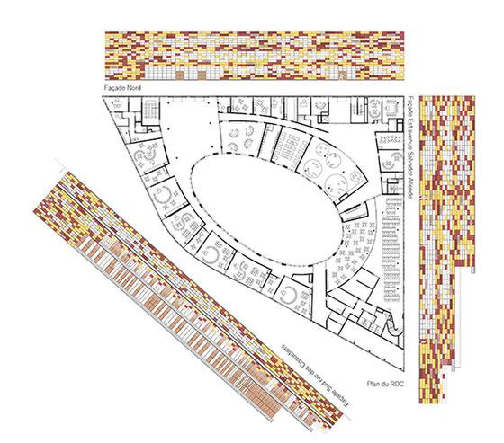 G valbon school complex by mikou studio schools for School project plan