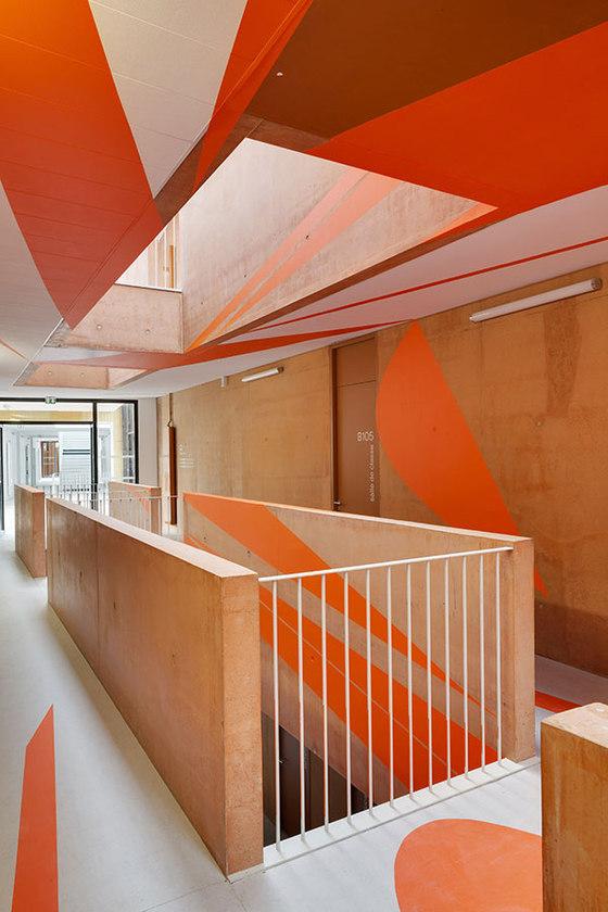 Jean Lurcat High School Gymnasium by Mikou Studio | Schools