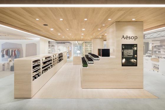 Aesop NEWoMan Shinjuku de TORAFU ARCHITECTS | Intérieurs de magasin