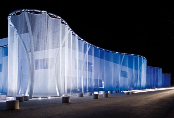 "The ""Silent Movie"" Light Curtain for Swarovski de Four To One 
