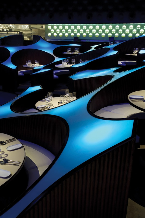 Blue Frog von AWA Architectural Lighting Designers | Restaurant-Interieurs