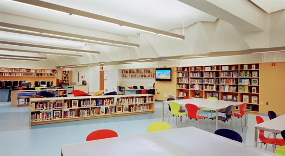 A. E. Smith High School Library by Atelier Pagnamenta Torriani | Museums