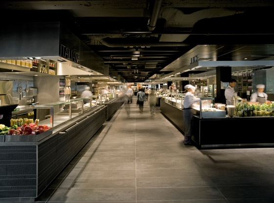 de Bijenkorf kitchen von concrete | Restaurant-Interieurs