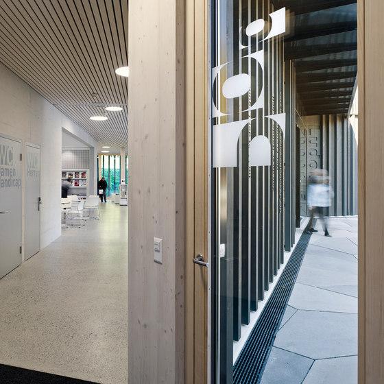 Library | game library and municipal administration | Spiez by bauzeit architekten | Shops