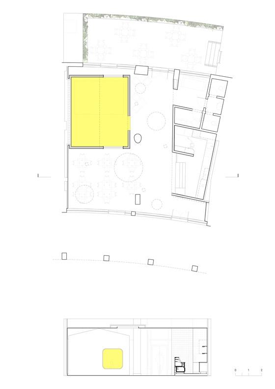 Petit Cabanon Café von TERNULLOMELO ARCHITECTS | Café-Interieurs