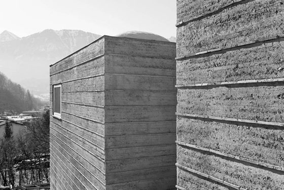-Rammed earth house, Rauch family home