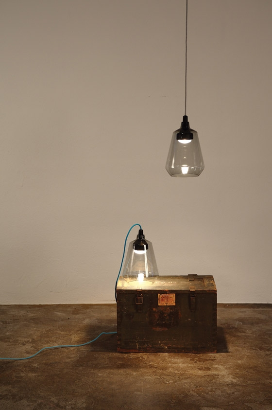 Friday // Suspension - Table lamp // Tinted glass and aluminum by Reinhard Dienes | Short runs