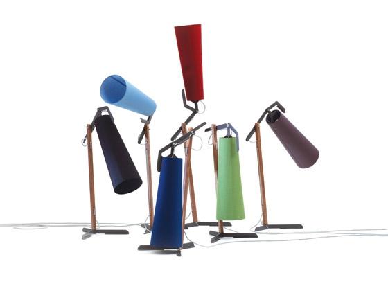 la grande // room lamp // steel, walnut & textil de Reinhard Dienes | Short runs