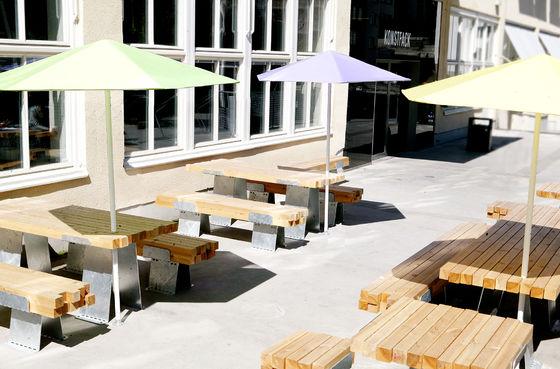 Konstfack outdoor café by studio marcus abrahamsson café interiors