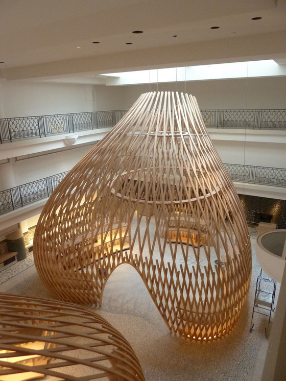Hermès Rive Gauche (engineering and construction) by Bollinger + Grohmann Ingenieure   Shop interiors