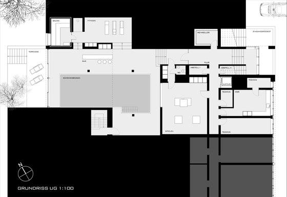 Villa zum Rhein di Dibelius Architekten | Case unifamiliari