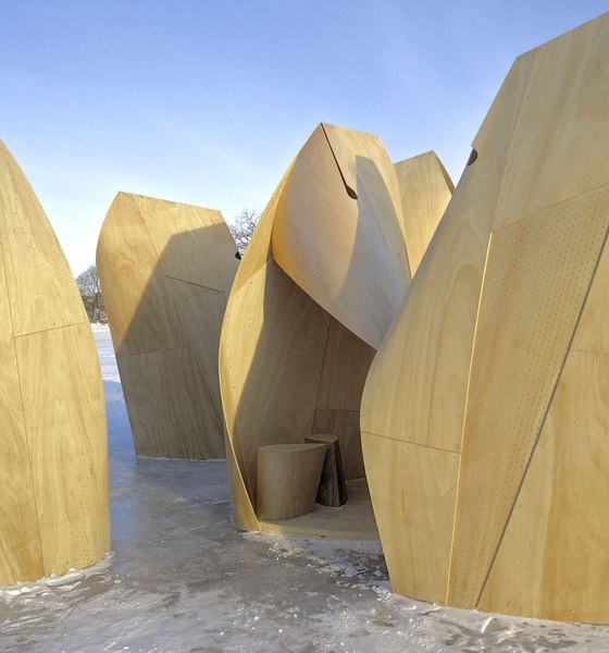 Winnipeg Skating Shelters by Patkau Architects | Temporary structures