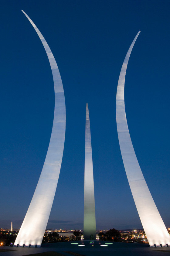 United States Air Force Memorial by OVI - Office for Visual Interaction | Monuments/sculptures/viewing platforms