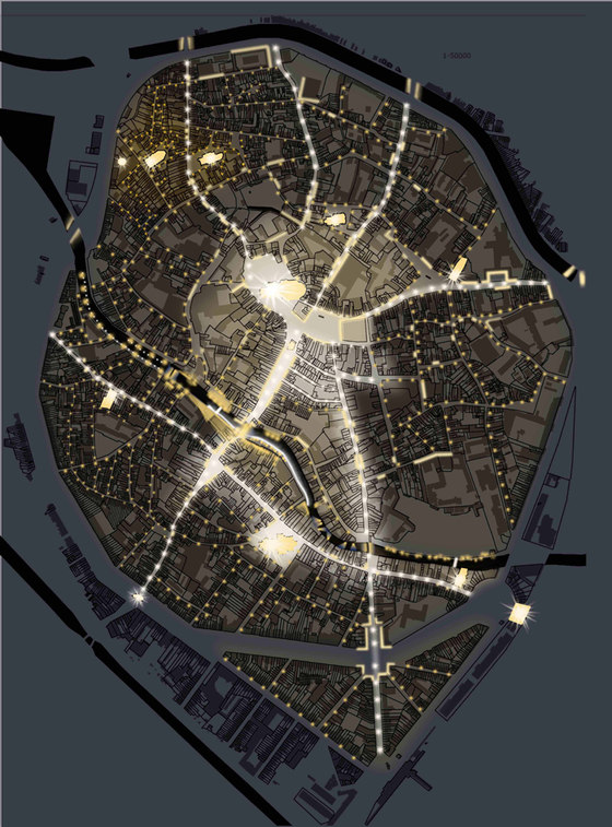 Mechelen Lighting Masterplan de Susanna Antico | Parcs