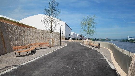 New Rhine promenade in St. Johann, Basel di BURRI | Manufacturer references