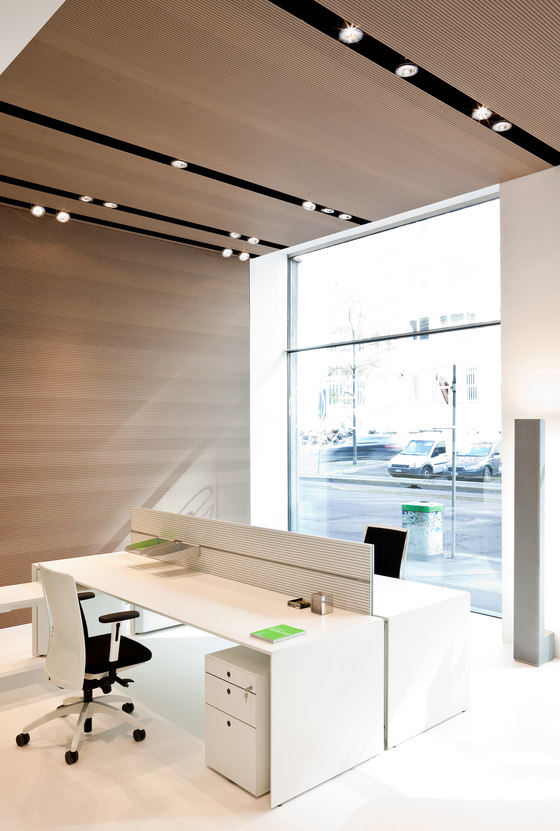 Fabbian reference projects-Showroom Blue Milano di Fantoni Group