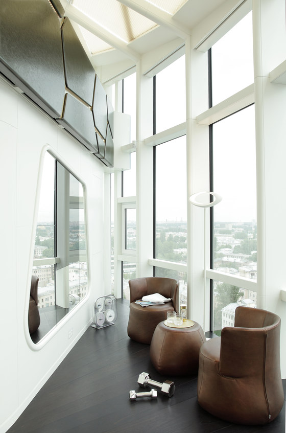 Penthouse, Saint Petersburg by Tchoban Voss architects | Living space