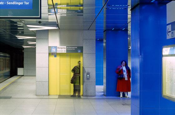 Münchner Freiheit subway station by Ingo Maurer | Railway stations