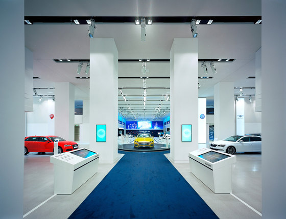 Drive. Volkswagen Group Forum by macom | AudioVisual Design | Trade fair stands