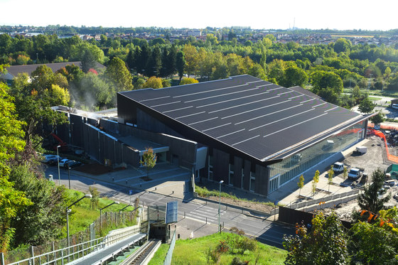 New Swimming Stadium at the Parco della Gioventù Sports Complex by Casalgrande Padana   Manufacturer references