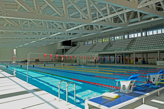 New Swimming Stadium at the Parco della Gioventù Sports Complex by Casalgrande Padana | Manufacturer references