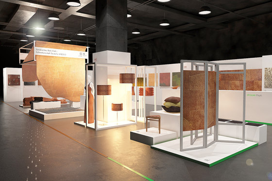 Special Exhibition Bark Cloth | IMM 2014 Cologne by Harry Hersche | Trade fair stands