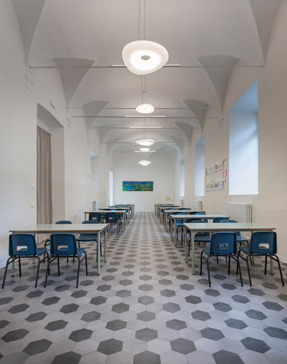 De amicis primary school by linea light group reference projects manufacturer references