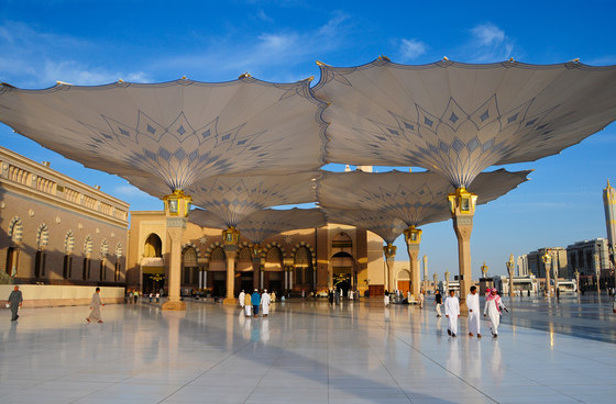250 sun shades for pilgrims in Medina Sefar Medina, Saudi