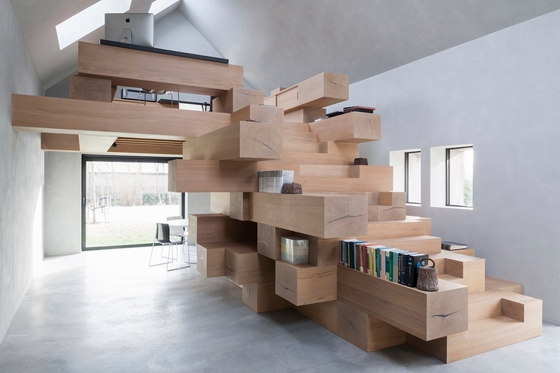 Stable in West Flanders by Studio Farris Architects | Office facilities