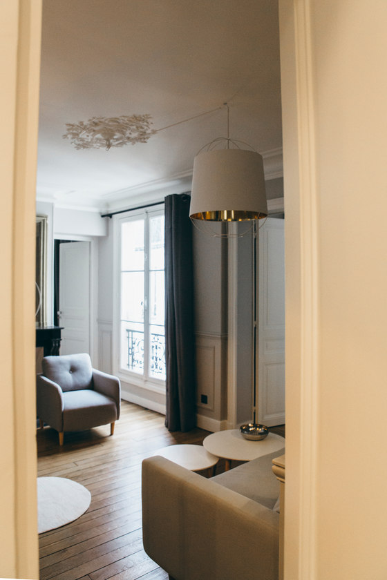 A Parisian pied-à-terre for a family of four by Camille Hermand Architectures | Living space