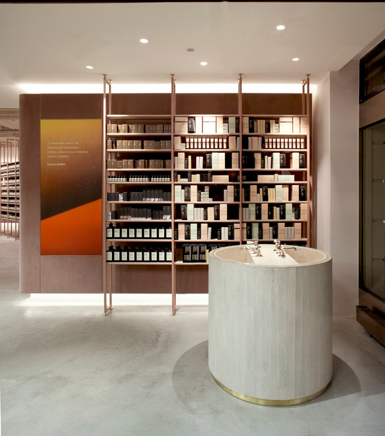 aesop munich by einszu33 shop interiors. Black Bedroom Furniture Sets. Home Design Ideas